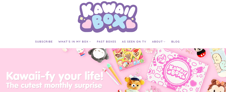 Kawaii Box - Top 10 Types of Website You Can Create With WordPress in 2020