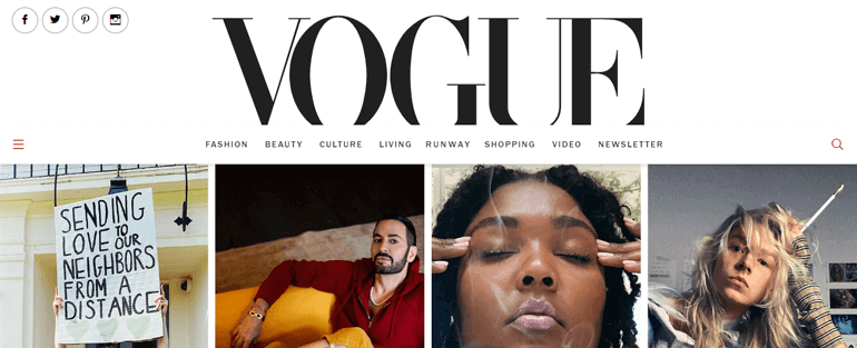 Vogue Web - Top 10 Types of Website You Can Create With WordPress in 2020