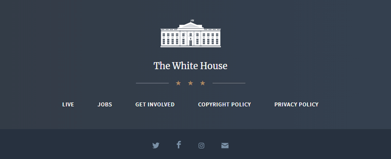 White House Web - Top 10 Types of Website You Can Create With WordPress in 2020