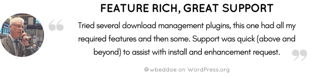 Feature Rich Plugin Testimonial