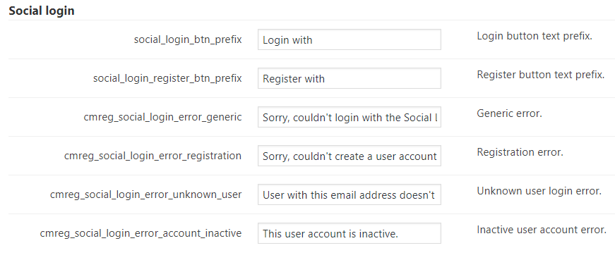 Labels-Social Login