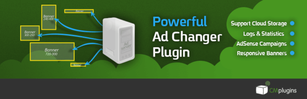 Logo for the CM Ad Changer WordPress Plugin