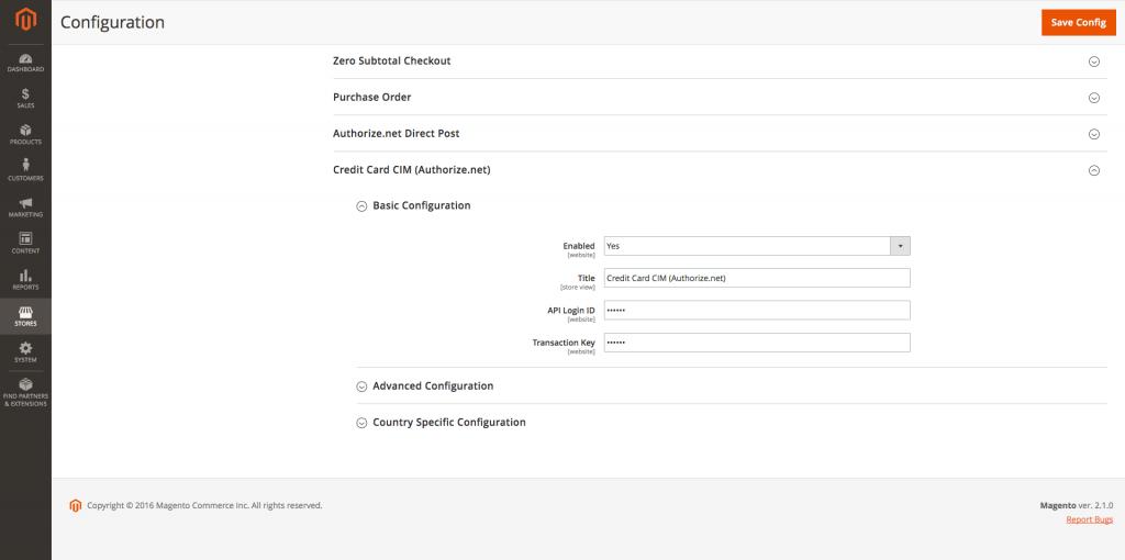 Admin Configuration 1