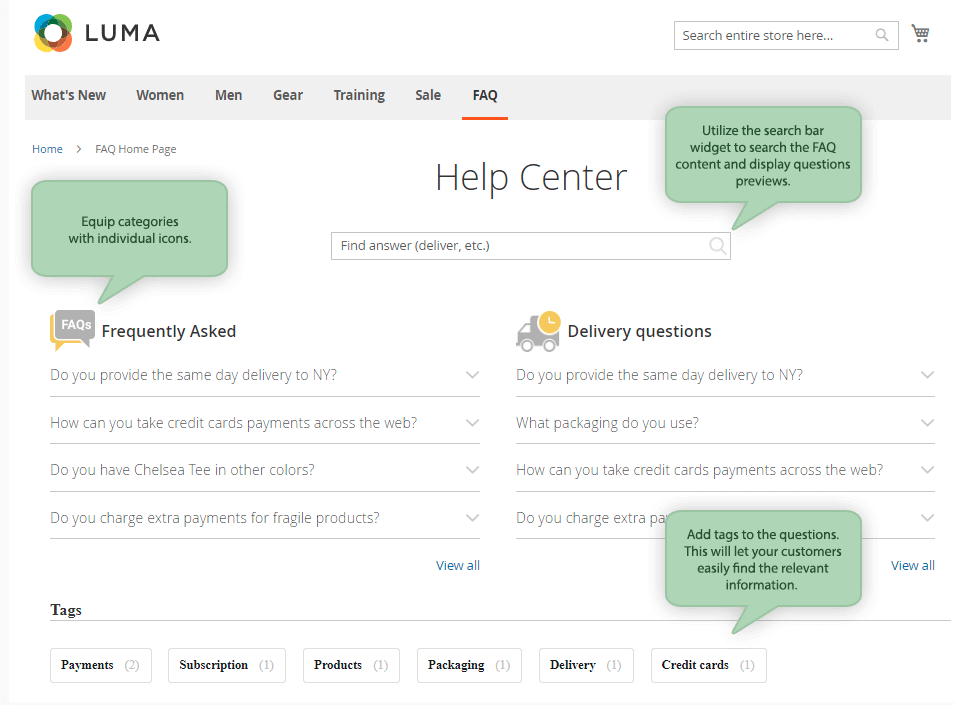 Top Magento FAQ extensions image