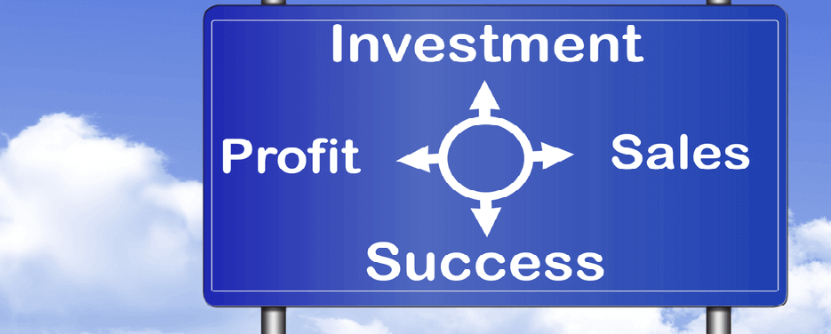 An image of a signpost with a depiction of a business plan