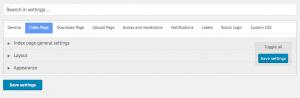 CM Download Manager - Back-end Screenshot -