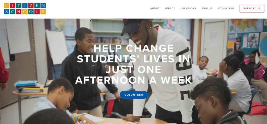 Citizen-Schools help children from low-income families, WP helps Citizen Schools