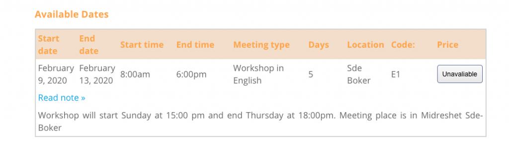 Course Catalog WordPress Plugin - Midbar Story 4