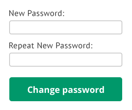 Create New Password Option