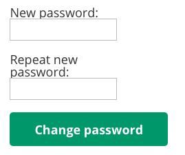 Create New Password Option