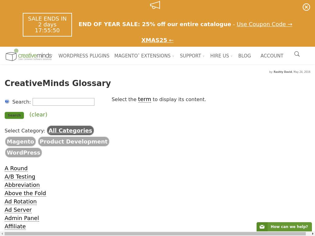 CreativeMinds Glossary