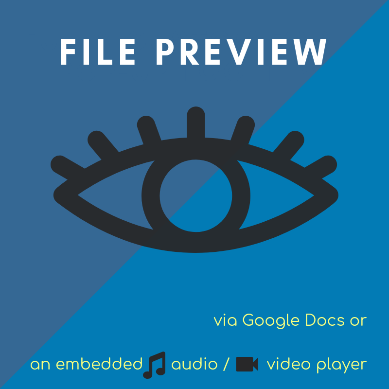 Use Google Docs to preview files prior to download