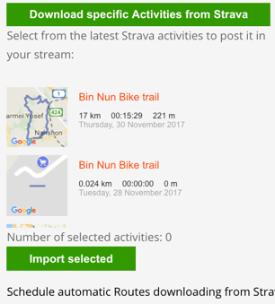 Download activities from Strava
