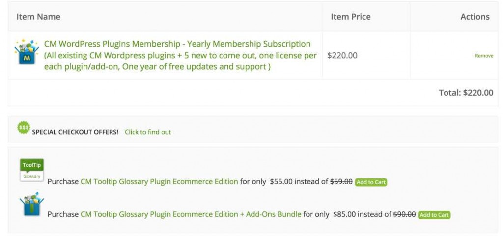 EDD Special Offers Customized Widget in the Checkout - Best Plugins to Build an Online Store with WordPress