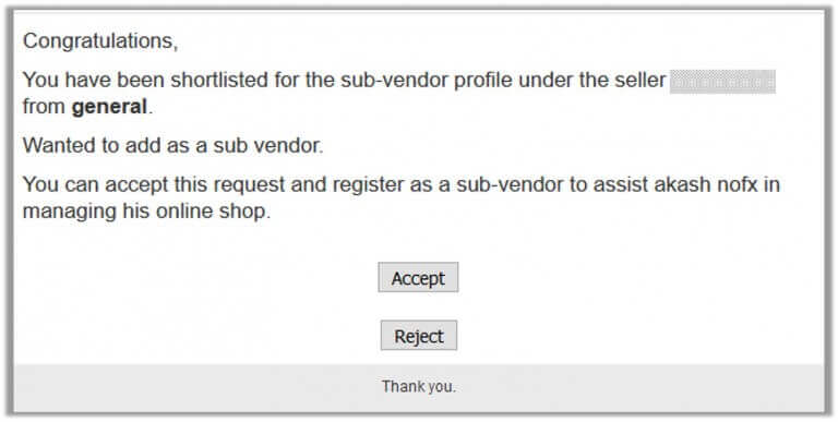 CedCommerce Vendor Sub Account screenshot - The Ultimate List of Magento Multi-User Account Extensions