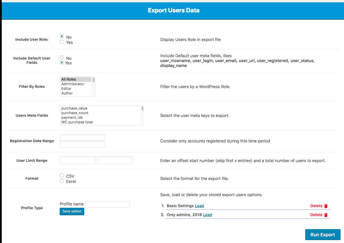 ExportUserDataScreenshot - Exporting data