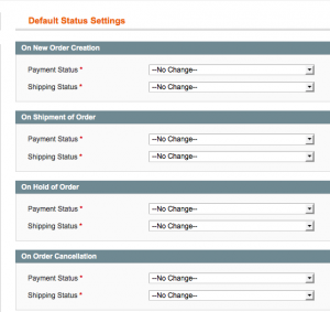 Automatically change both order statuses when using the Hold, Ship, or Cancel buttons in Magento