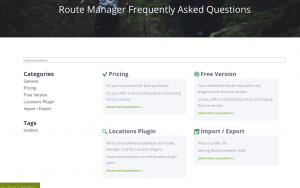 FAQ Index Page - FAQ Manager Plugin
