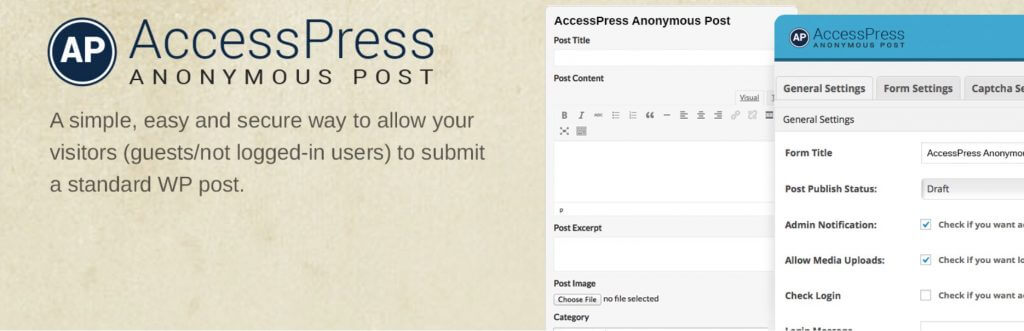 AccessPress Anonymous Post Plugin - Manage Writers Swiftly With These 5 User Submitted Post Plugins