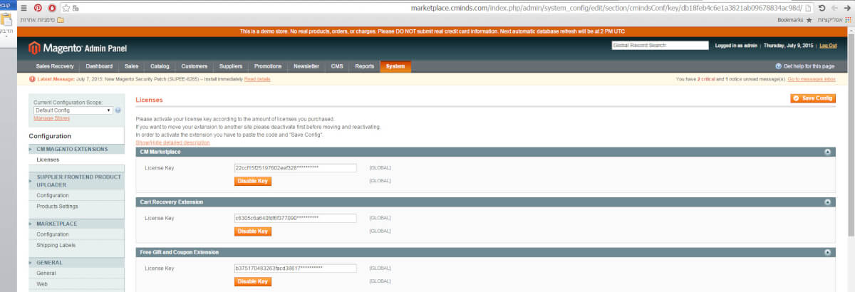 Save config - Direct Upload Via FTP - Down to The Basics: How to Install a Magento 1 Extension