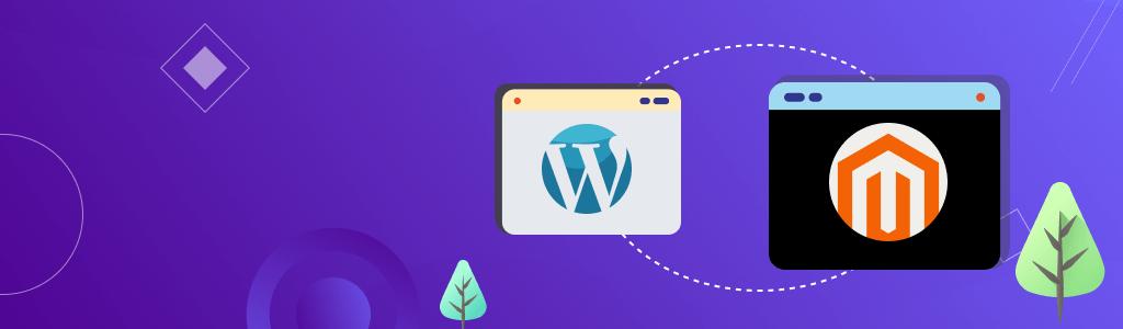 Illustrative Banner Blog Ecommerce - WordPress Vs. Magento - CreativeMinds