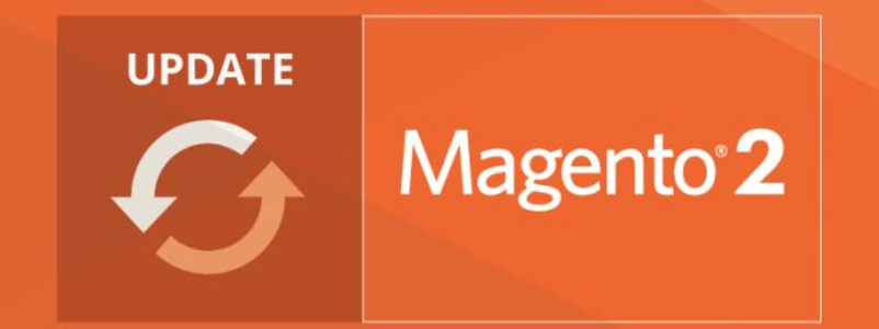 An image of the Magento 2 logo beside an Update icon