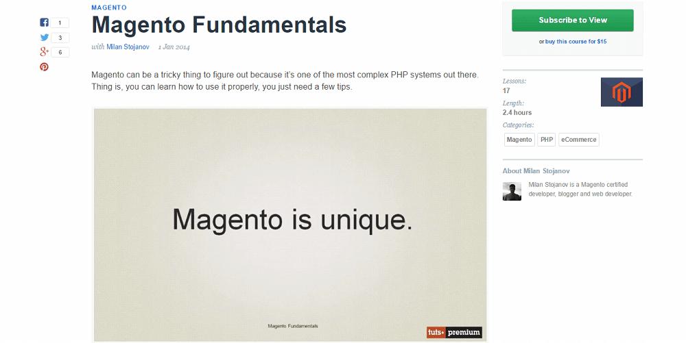 Magento Online Tutorials