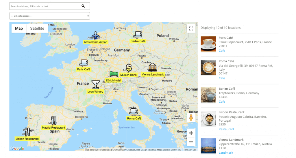 Maps Location Europe Example WordPress Plugin (1)