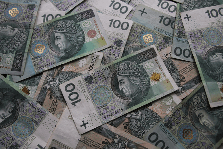 Image of a pile of euro bills.