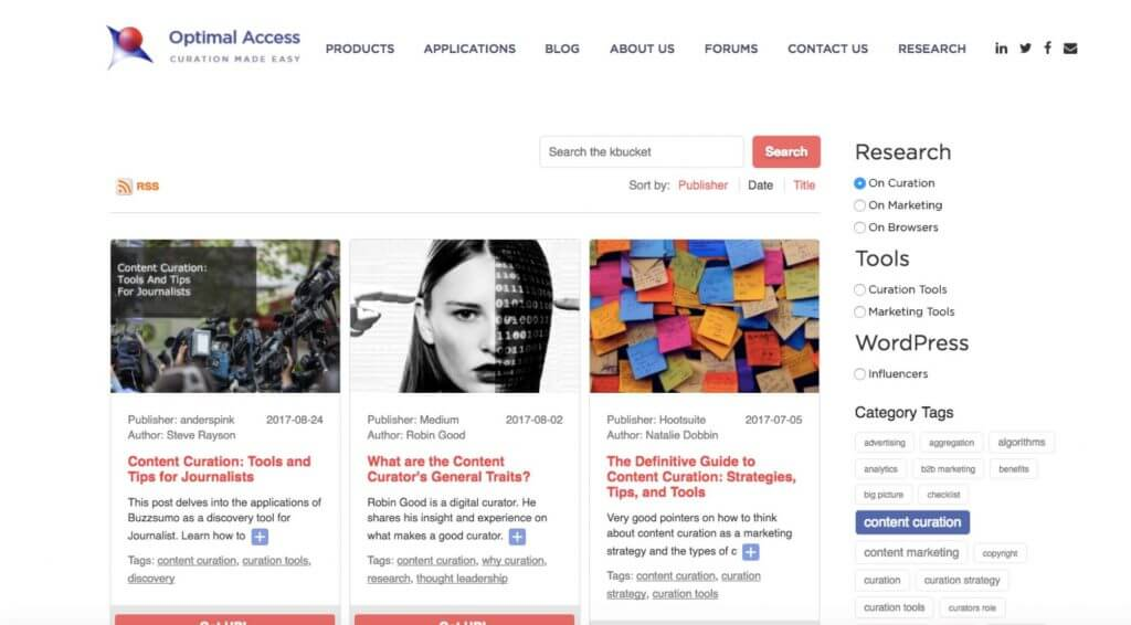 KBucket Topic Curation  - 5 Essential WordPress Plugins To Manage Curated Lists