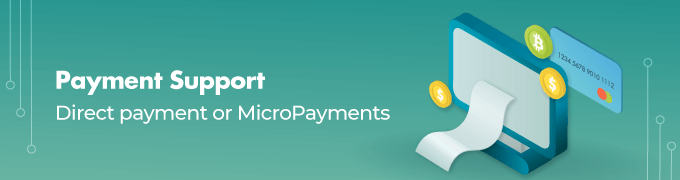 Payment Support feature slider