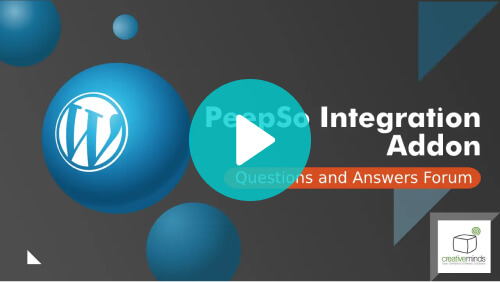 Questions and Answers – PeepSo Integration Add-On - Video tutorial - PeepSo: Make Your WordPress Website Social With These Top Add-ons
