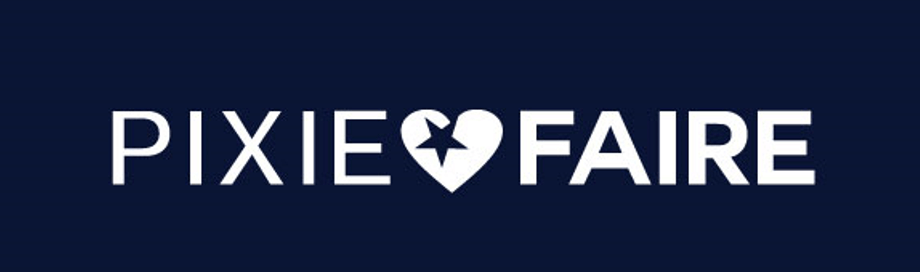 The logo for Pixie Faire, presented to represent their Ecommerce success story.