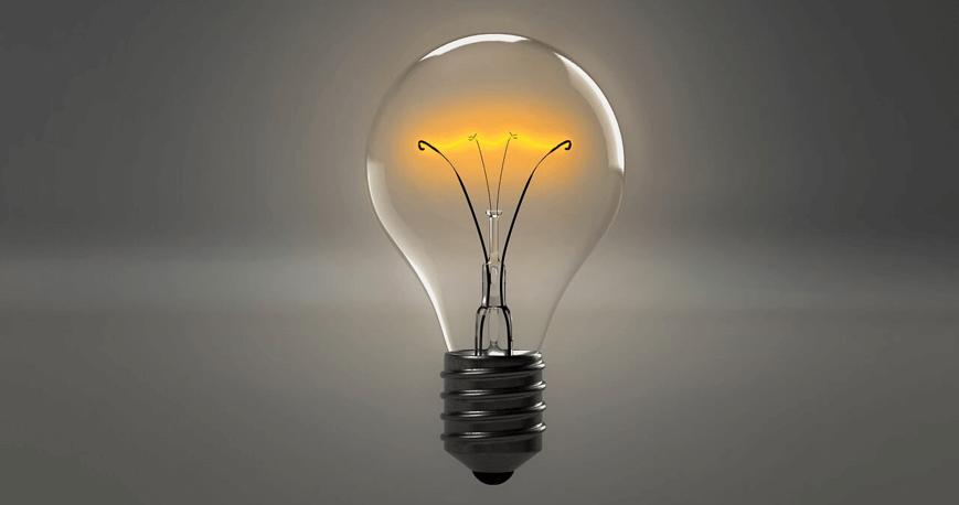 Image of a lightbulb turned on