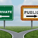 Image depicting private and public pathways, similar to exclusive WordPress content subscriptions