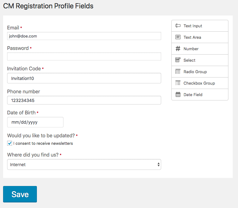 User Registration and Invitation Codes Plugin for WordPress
