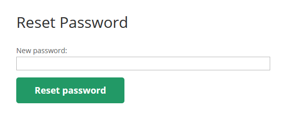 Reset Password Option