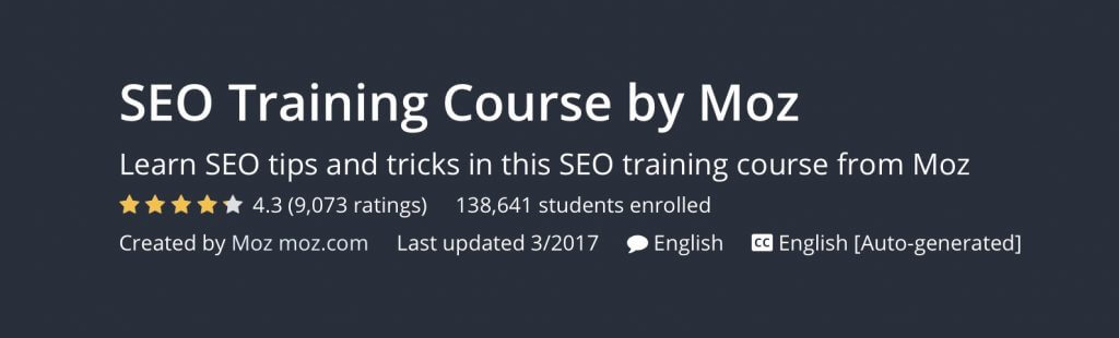 1) Free Courses - 7 Definitive Resources to Becoming an SEO Master