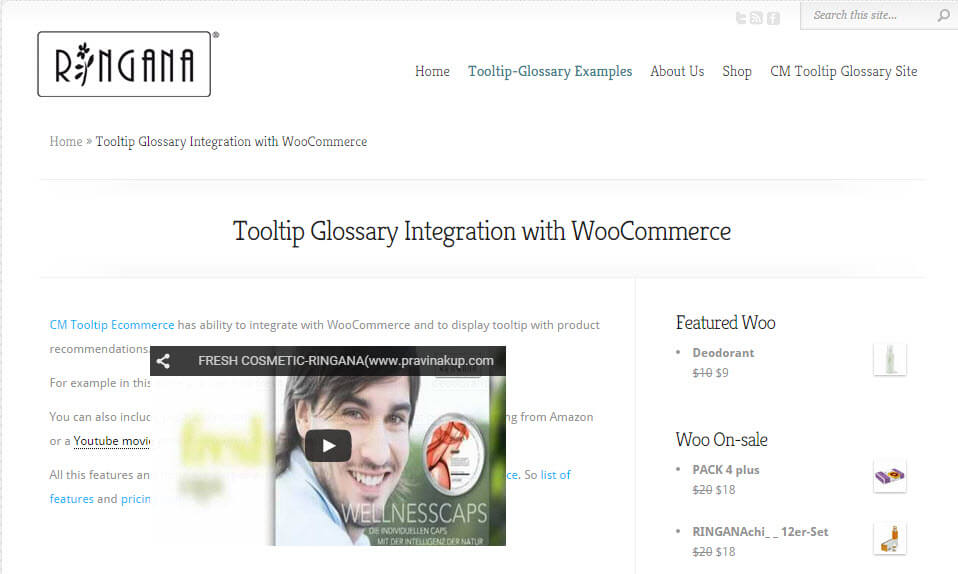 WordPress Tooltip Ecommerce Plugin Now Supports Glossary WooCommerce Integration