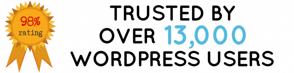Trusted by over 13,000 WordPress Users