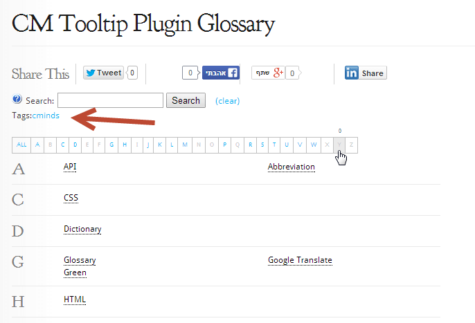 TooltipGlossary WP Tag - Overview of the Glossary eCommerce Plugin For WordPress