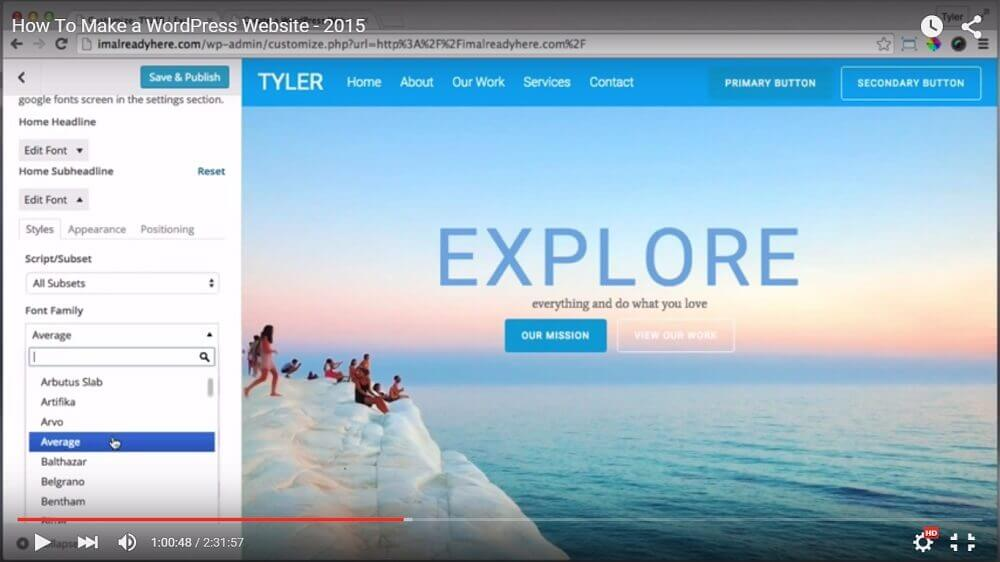 Tyler Moore youtube channel - WordPress Online Tutorials for Beginners and Advanced Users