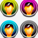 Image of four colored user icons, representing different user tiers in Ecommerce