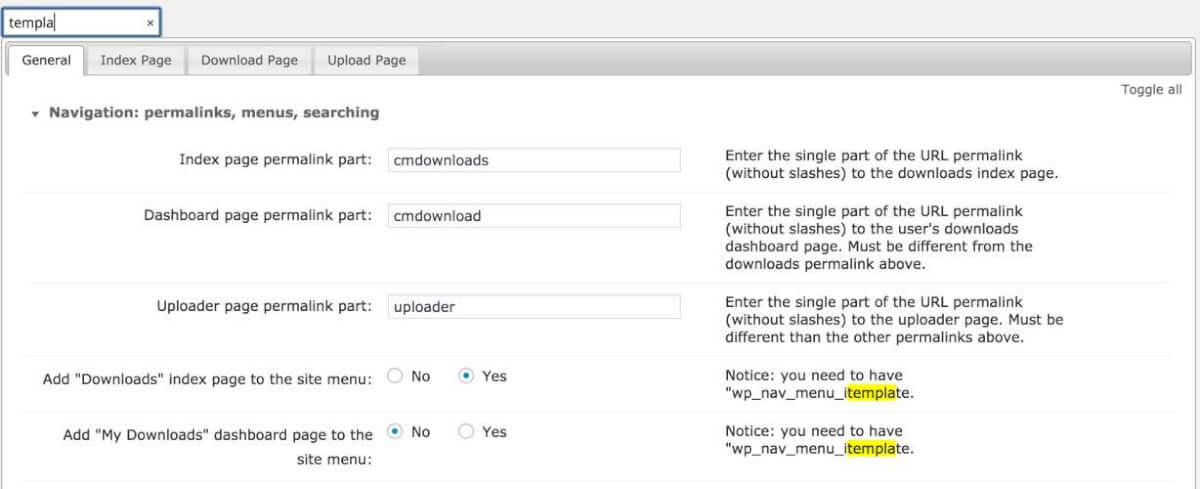 Using fast search within settings - How to Improve WordPress Plugin Onboarding + Checklist