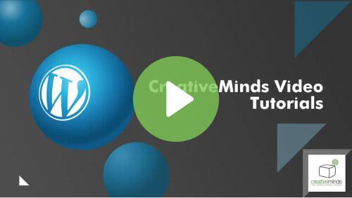 Creative Minds Video Totorial - WordPress Plugins Help and Tutorials by CreativeMinds - Creative Minds Blog