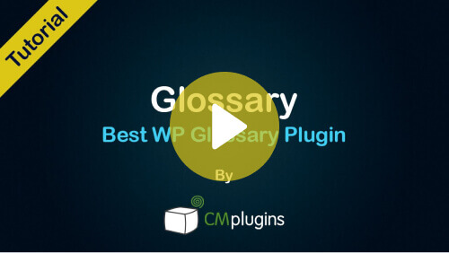Glossary Best WP - A Hands-On Tutorial of The Best WordPress Dictionary Plugin! - Video Tutorial! - Tutorial - Creative Minds Blog