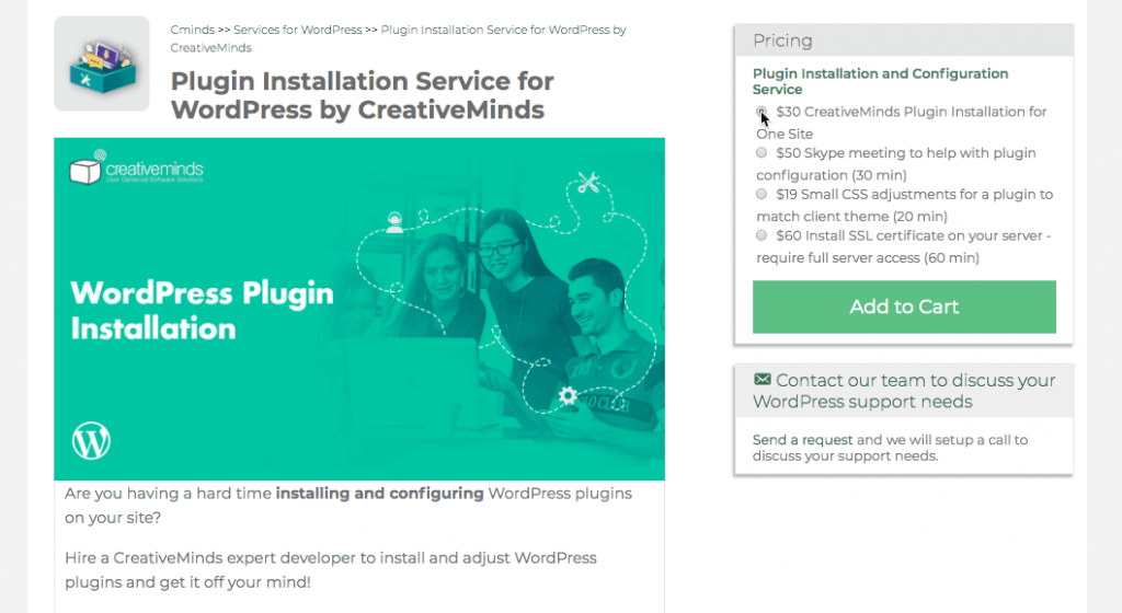 One-on-one Support - WordPress Plugins Help and Tutorials by CreativeMinds