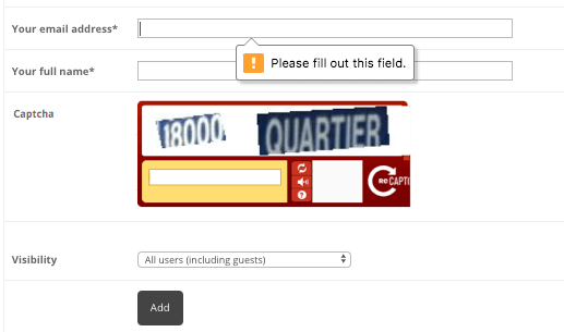 Anonymous user solving reCAPTCHA to upload file