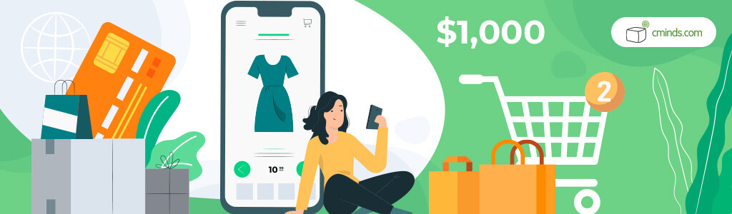 Only 1M eCommerce sites make more than $1,000 a year - Online Shopping Statistics You Need to Know (2021)