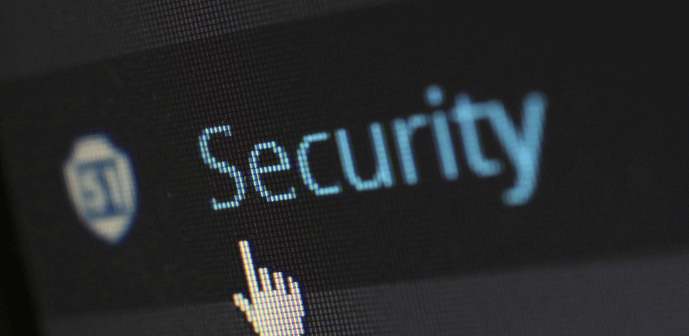 Image of a cursor over the word security to emphasize how to force HTTPS WordPress security measures